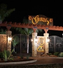 Front Gate Entry at Night
