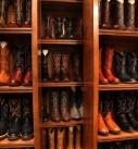 Hidden Boot Display in Closet